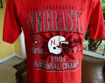 Nebraska Cornhuskers 1994 National Champions vintage tshirt - red size XL