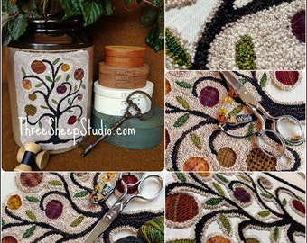 Punch Needle Pattern - Olde Orchard - #PN541 - Needlepunch Embroidery