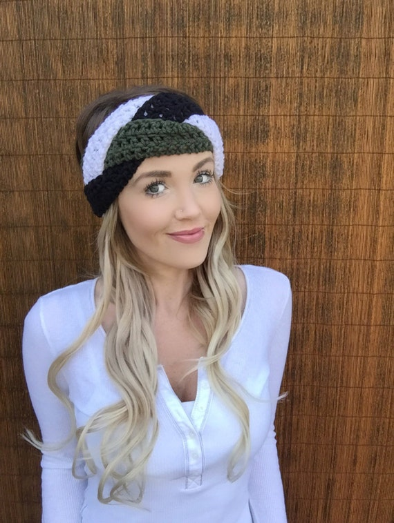 Philadelphia Eagles Black Green White Braid Head Wrap Hair