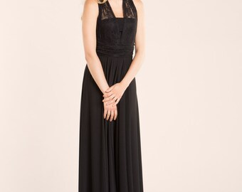 Black lace dress, lace gown, long dress, long lace dress, elegant womens dress, choose your color, lace dress, prom dress bridesmaid dresses