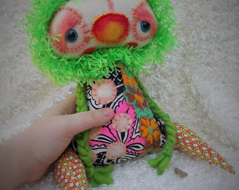 Handmade Art Doll (Boisy) Ratty Tatty Monster
