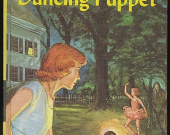 Vintage Nancy Drew The Clue of the Dancing Puppet, Carolyn Keene, Mystery Book, Girl Detective Series, 1960s