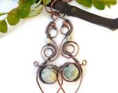 Gypsy boho earrings long boho earrings boho statement earrings wire wrapped jewelry bohemian jewelry boho jewelry wire wrap earrings