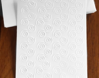 Embossed Cards  / Set of 12 / Card Stock / A2 Envelopes / Craft Supplies