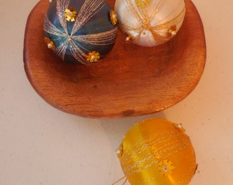 Vintage Little SILK Christmas Ornaments