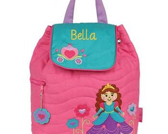 Personalized Princess Backpack Stephen Joseph Princess Backpack Childs Monogrammed Tote