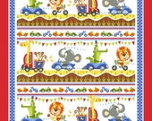 "Safari Drive Fabric Panel by Tim Beaumont for Studio e- 36 x 44"" Cotton Fabric Panel"