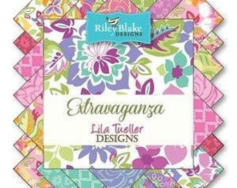 "Riley Blake Designs ""Extravaganza"" by Lila Tueller- RP-4640-18    2.5"" Rolie Polies Bundle"