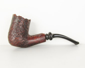Vintage Pipe: Unsmoked Briar Wood Granny Goodwitch with Rustic Bowl