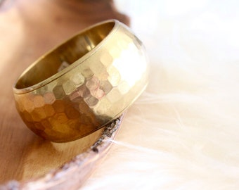 indian hammered brass bangle