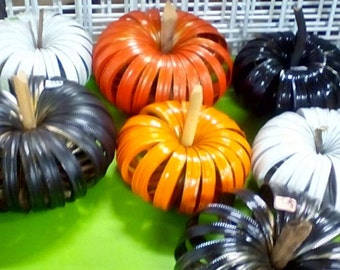 Canning Ring Pumpkins- perfect for Fall decorations