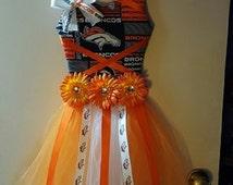 Denver Broncos Tutu Hair Bow Holder
