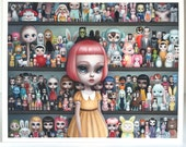 SPECIAL Archive Access - The Dolly Collector  - 8x10 signed AP - Pop Surrealism Fine Art Print - by Mab Graves