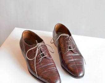 Vintage 1990s made in ITALY leather loafers / 7