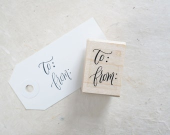 To and From Rubber Stamp - Packaging Stamp