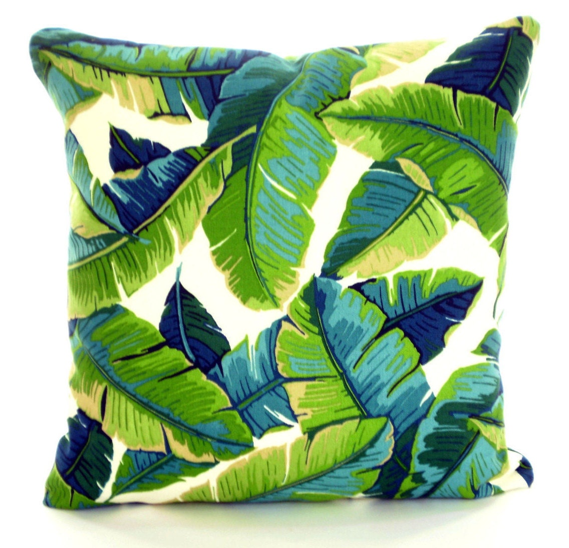 Tropical Throw Pillow Covers : OUTDOOR Tropical Pillow Covers Palms Green Aqua Throw