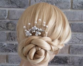Pearls  hair pins, Bridal Hair Pins , Bridal Hair Accessory,wedding Hair Pins