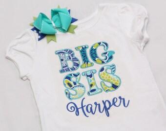 Big Sister Shirt - Big Sis Shirt and Coordinating Hairbow