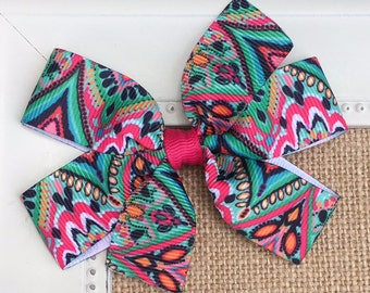 Lilly Pulitzer Hair Bow, Lilly Pulitzer Crown Jewels, Lilly P Bow, Lily Pulitzer Hair Accessories, Lilly Pulitzer Inspired Hair Bow