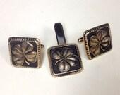 Lucky Shamrock Four Leaf Clover Cufflinks – 1950s Man Jewelry