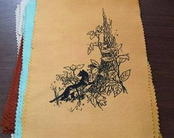 Pine marten : handprinted patch