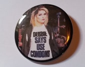 Debbie Harry Blondie pin badge retro style pinback button hand pressed 2-1/4 inch pin