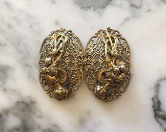 Art Nouveau Ladies Belt Buckle Antique Edwardian