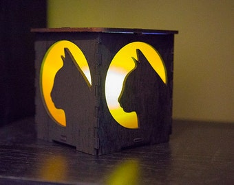Small Cat Silhouette Lantern