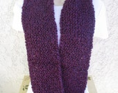 Cozy Comfort Infinity Scarf (Doubles as a Cowl) in Grape (Purple) READY TO SHIP