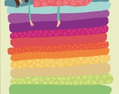 Princess and the Pea Illustration Poster  A3 or A4 (uk)