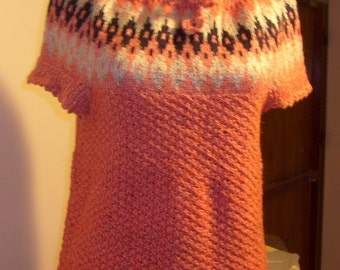 pink mohair sweater