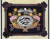 Wool Applique Pattern, Glory, Penny Rug, Wool Wall Hanging, Bonnie Sullivan PATTERN ONLY
