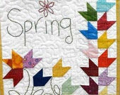 Quilt Pattern, Spring Tulips, Wall Hanging, Table Topper, Mini Tulip Bowl, Pieced Tree Patterns, Shelley Robson, PATTERN ONLY