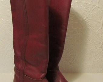 Vintage Dexter Oxblood 1970's 80's Tall Riding Boots