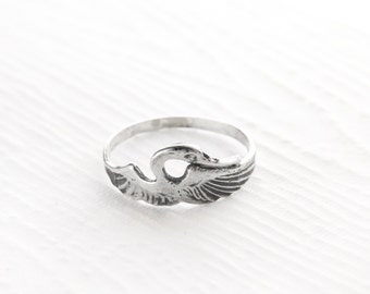 Heron Sterling Silver Ring