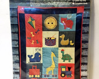 Vintage Quilt Top Kit, A Few Of My Favorite Things, Yours Truly Dated 1977, DIY Quilt Top, Gingham & Calico Fabrics Included, Vintage Sewing