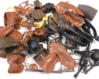 80-pc Marx Johnny West Accessories Mixed Lot