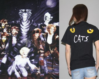 1981 Rare Vintage Cats Andrew Lloyd Webber Musical T Shirt - Cats Broadway Musical Tee - Vintage Cats Tshirt - Wz0630