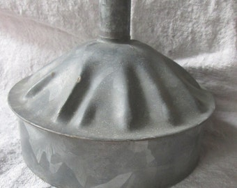 Vintage Galvanized Funnel