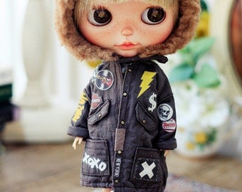 Sugarbabylove - New Patched jumper for Blythe