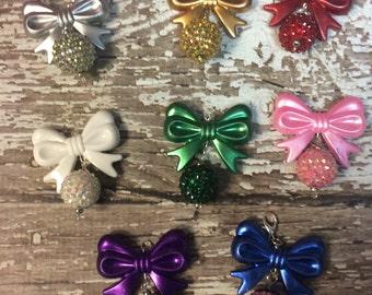 Pretty Bow Planner Charm, Keychain, Key Fob, Purse Tassel Charm