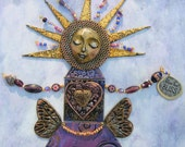 Mixed Media Mosaic Wall Art Inspiration Altar - The Meaning of Life, The Purpose of Life