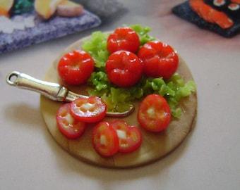Dollshouse Food , miniatures dollshouse , tray tomatoes