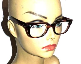vintage American Optical glasses - 1960s tortoise eyeglasses