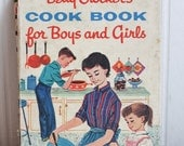 Betty Crockers Cook book for Boys and Girls, Vintage Cookbook, Kids Cookbook, 1950s Retro Cooking, Campfire Cooking, Desserts, Family Time