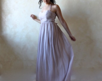 Alternative Wedding Dress Lavender Boho Woodland