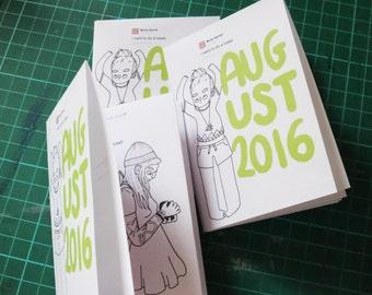 August 2016 Art Zine Sketchbook