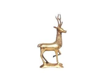 Vintage Large Brass Elk Statue