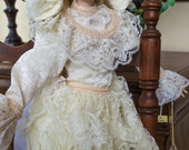 Collectible Doll 29 Inch Porcelain Doll 'Victoria' Vintage 1991 from the Connoisseur Doll Collection by Seymour Mann