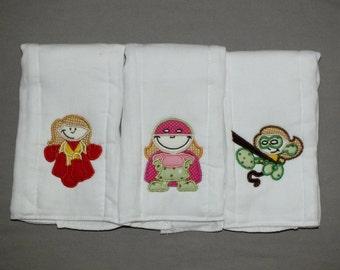 Baby girl superheroes baby girl burp cloth set super hero burp cloths baby girl superhero burp cloth personalized burp cloths